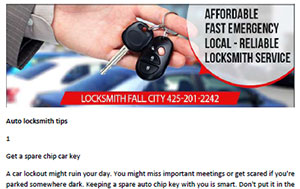 Tips in Fall City - Click here to download